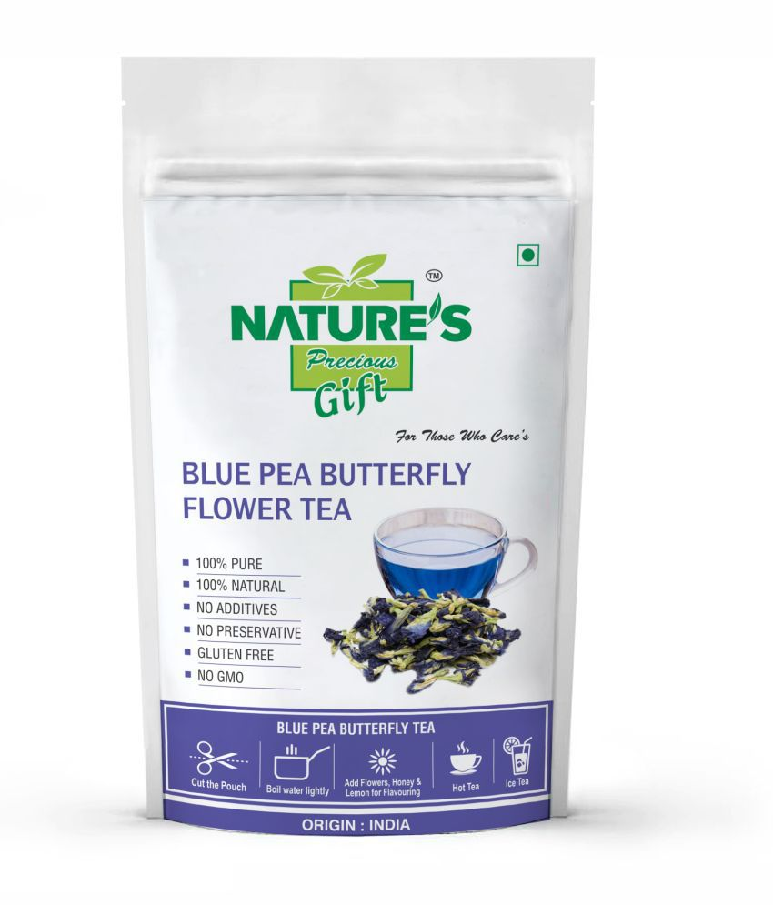 Nature's Gift Dried Butterfly Pea Flower Tea Loose Leaf 100 gm