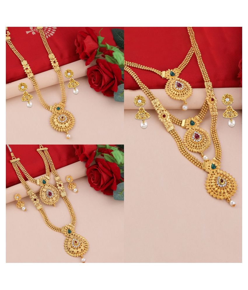 Silver Shine Alloy Golden Contemporary Traditional Gold Plated