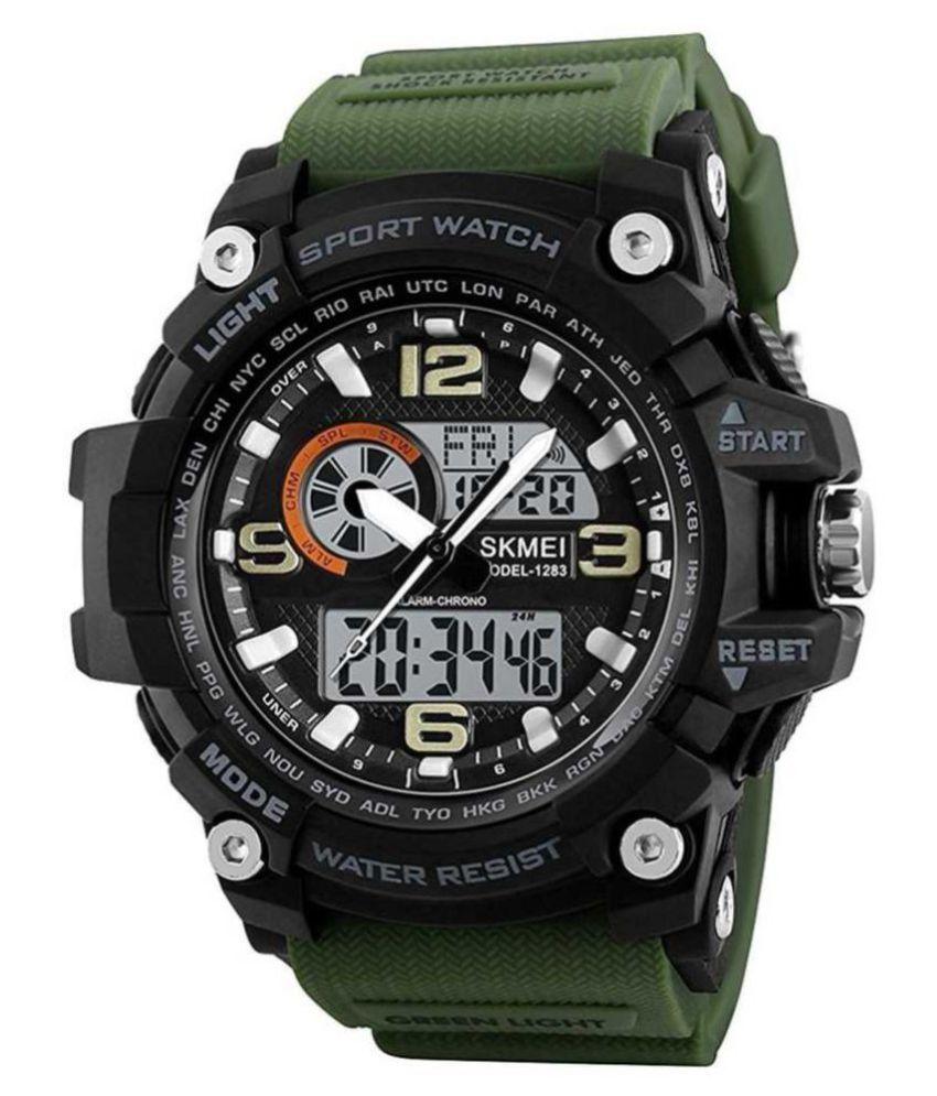 Skmei 1283 green Resin Analog Digital Men #039;s Watch
