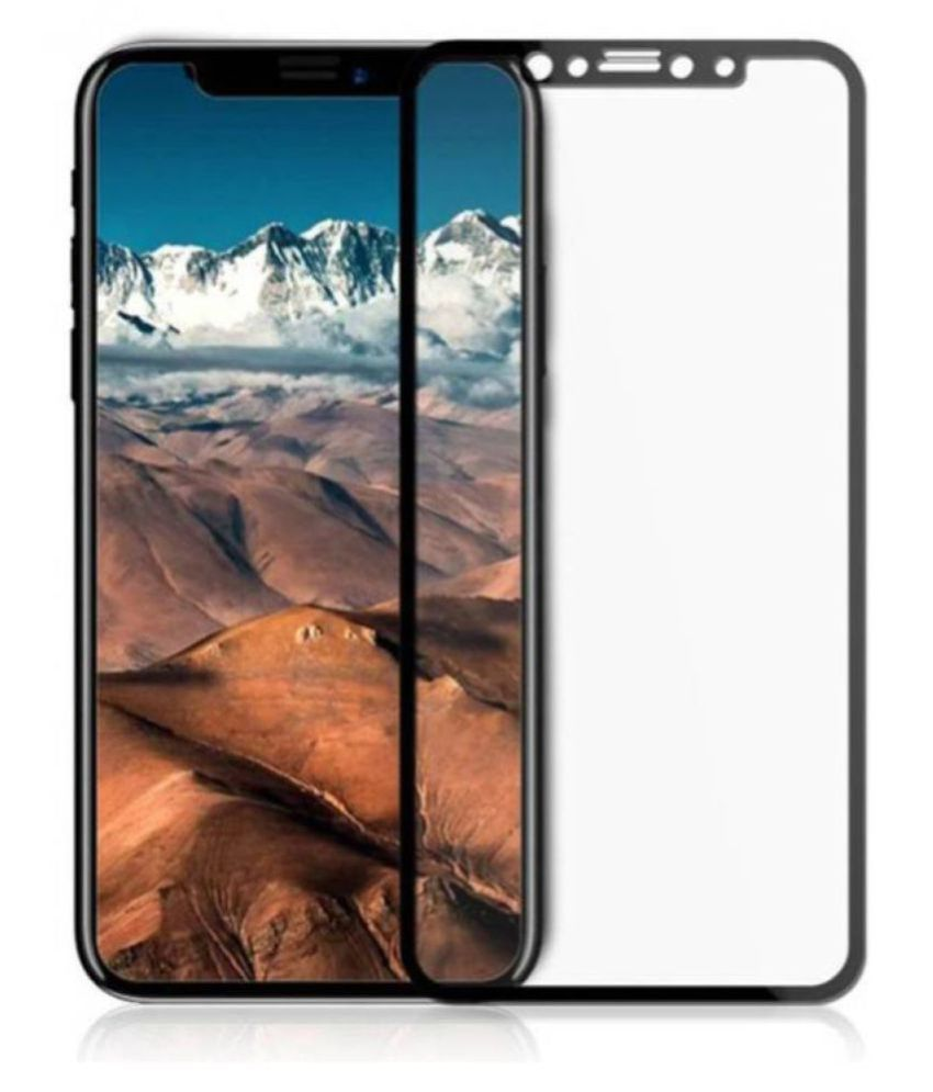 Apple iPhone X Tempered Glass Screen Guard By lenmax UV Protection, Anti Reflection