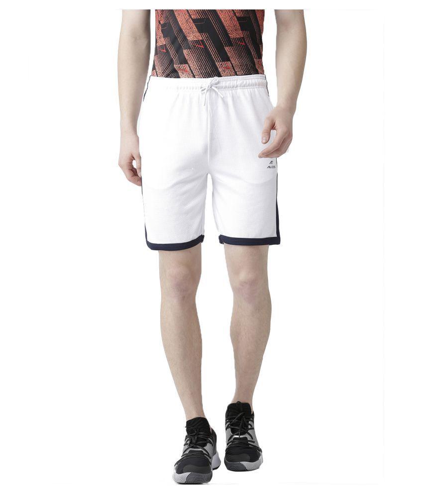 Alcis White Shorts Single