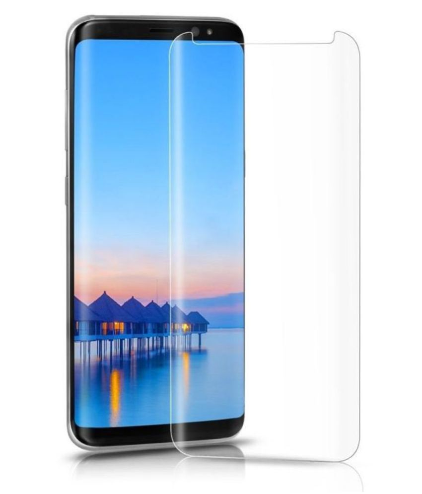 Samsung Galaxy S9 Plus Tempered Glass Screen Guard By lenmax UV Protection, Anti Reflection