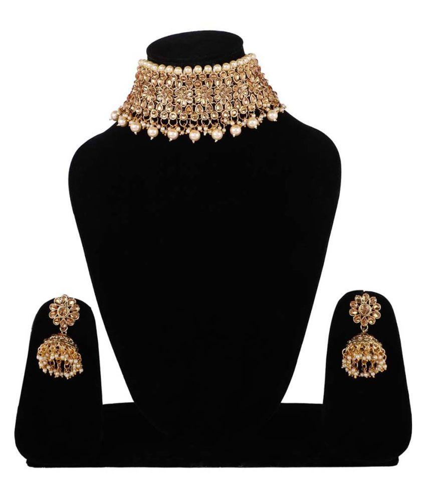 steorra jewels Brass Golden Choker Designer Antique