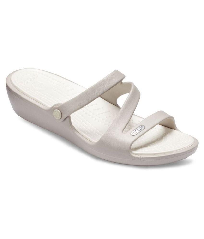 Crocs White Slippers