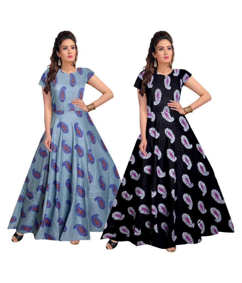 JWF Cotton Multi Color A- line Dress