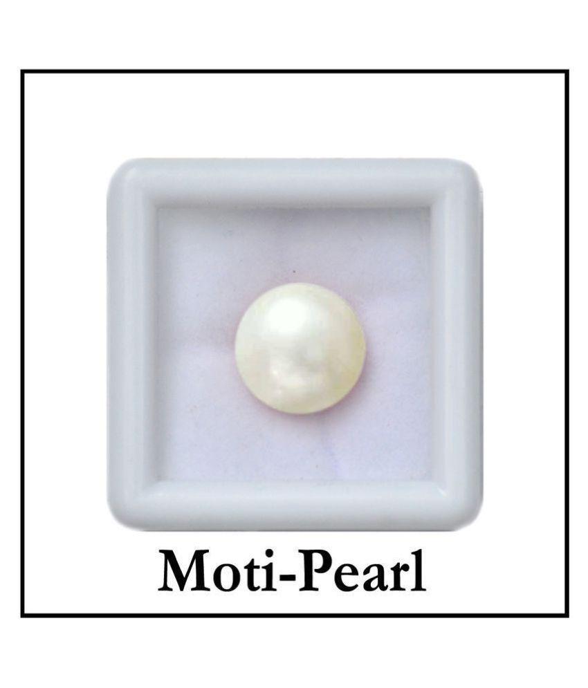 SARVNI GEMS 7.25 -Ratti AGL White Pearl Precious Gemstone