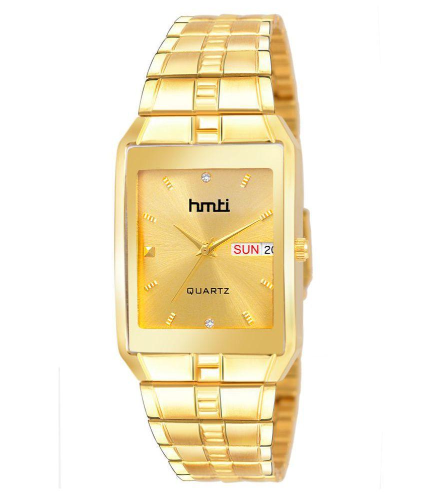 HMTI 1023 Gold Metal Analog Men's Watch