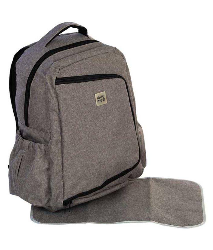 Mee Mee Grey Polyester Diaper Bag   34 cm
