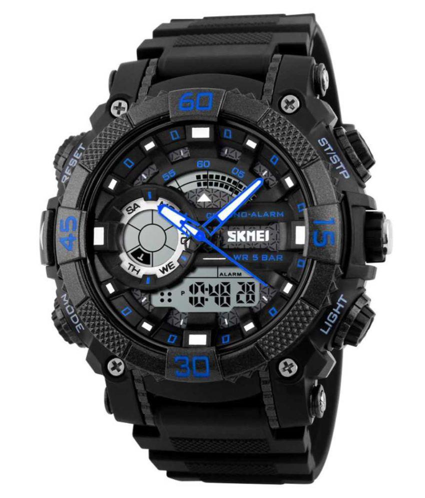 Skmei SKM 1228 BLUE Silicon Analog Digital Men #039;s Watch