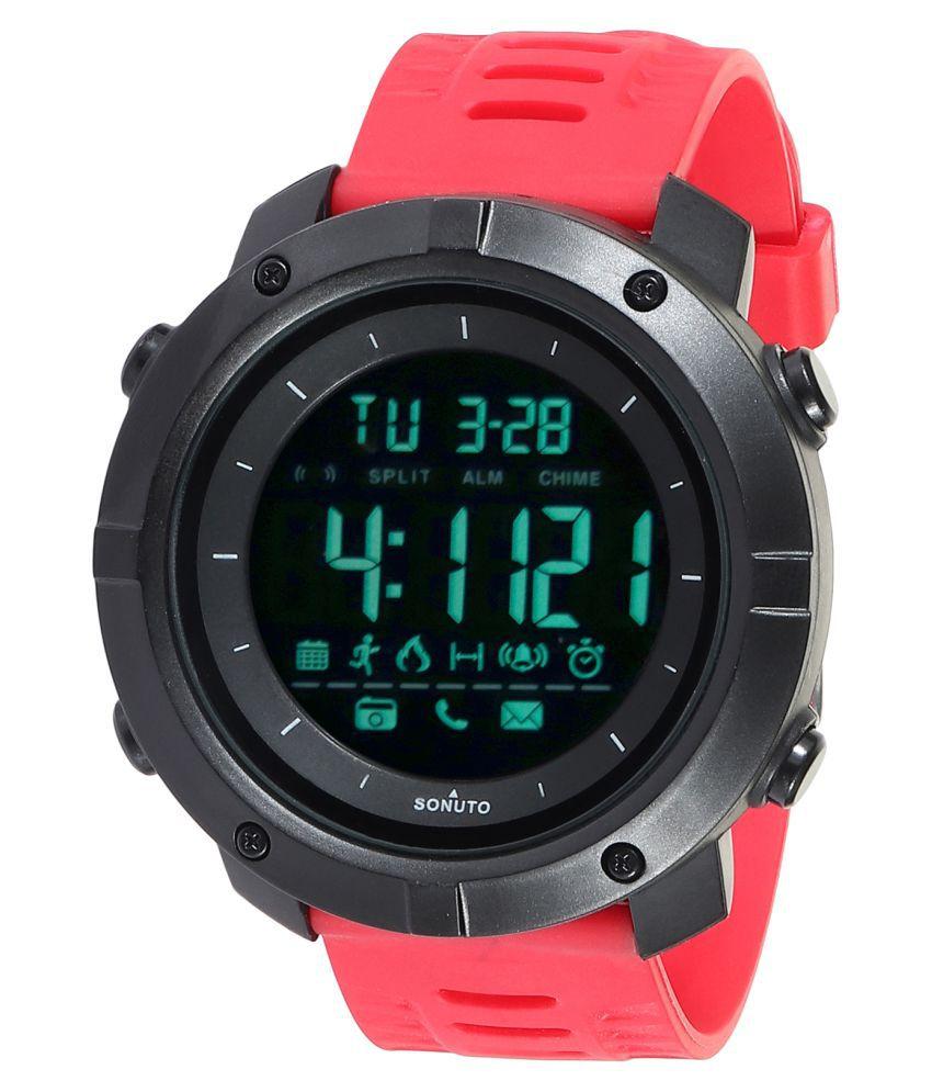 Sonuto SNT-9072-Red Resin Digital Men's Watch