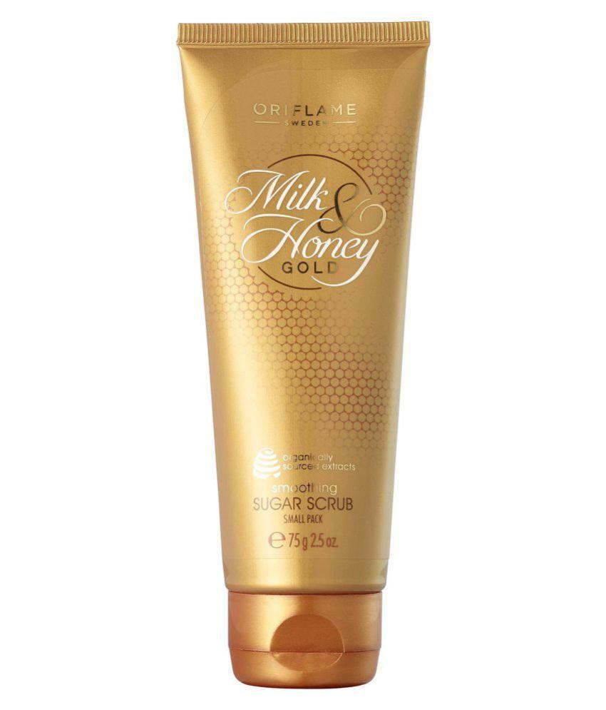 Oriflame Milk & Honey Gold Smoothing Sugar Scrub & Exfoliators Small Pack 75gm