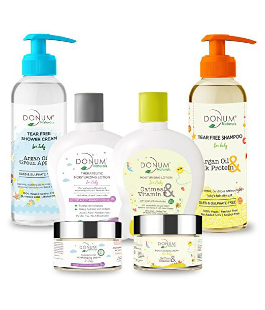 Donum Naturals Baby Care Kit Of Therapeutic Moisturizing Cream(60 gm), Moisturizing Cream Oatmeal, Vitamin F(60 gm), Therapeutic Moisturizing Lotion(220 ml), Moisturizing Lotion Oatmeal, Vitamin F(220 ml), Tear Free Shampoo(220 ml) & Baby Body Wash(220 ml)