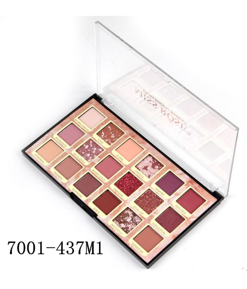 Miss Rose 18 COLOR  WITH GLITTER Eye Shadow Powder Colours 10 g