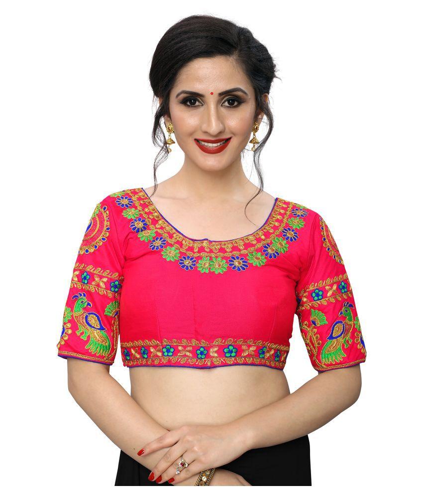 PRAFULBHAI KANTILAL RACHHADIYA (HUF) Pink Silk Readymade with Pad Blouse