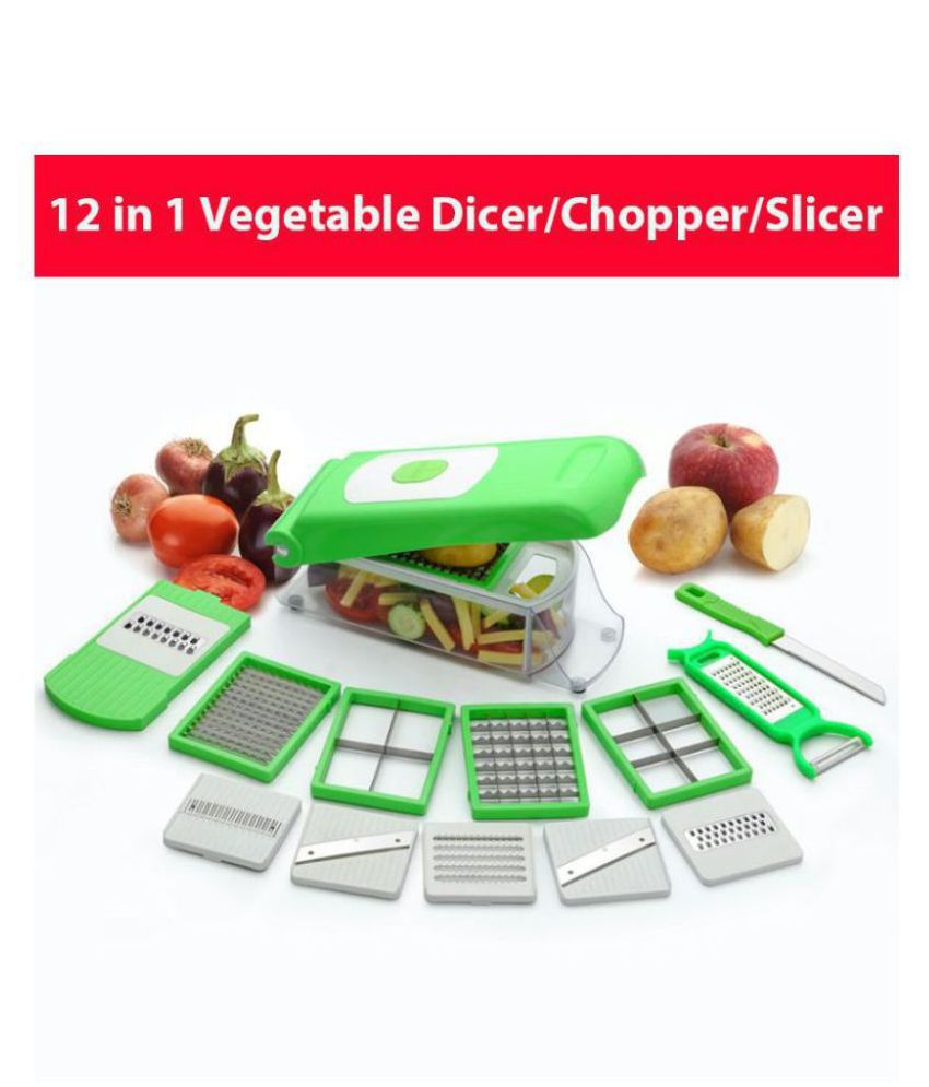 12 in 1 High Quality and Easy To Use Fruit & Vegetable Cutter - Chopper, Dicer ,Grater, Slicer, - All In One / Kitchen Tool