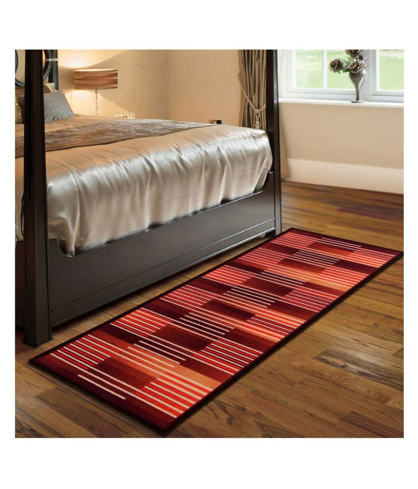 Beautiful Homes Brown Runner Single Polyester Abstract 2x5 Ft