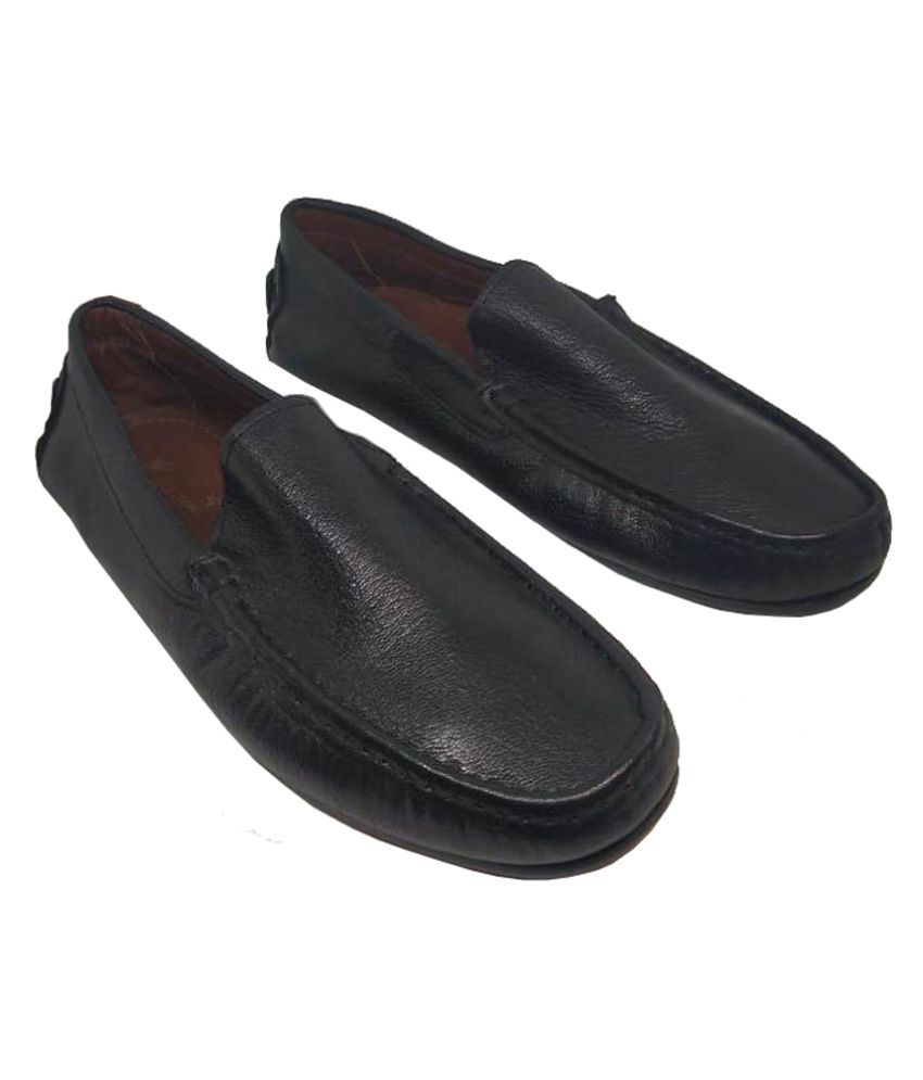 JL Collections Genuine Leather Black Formal Shoes