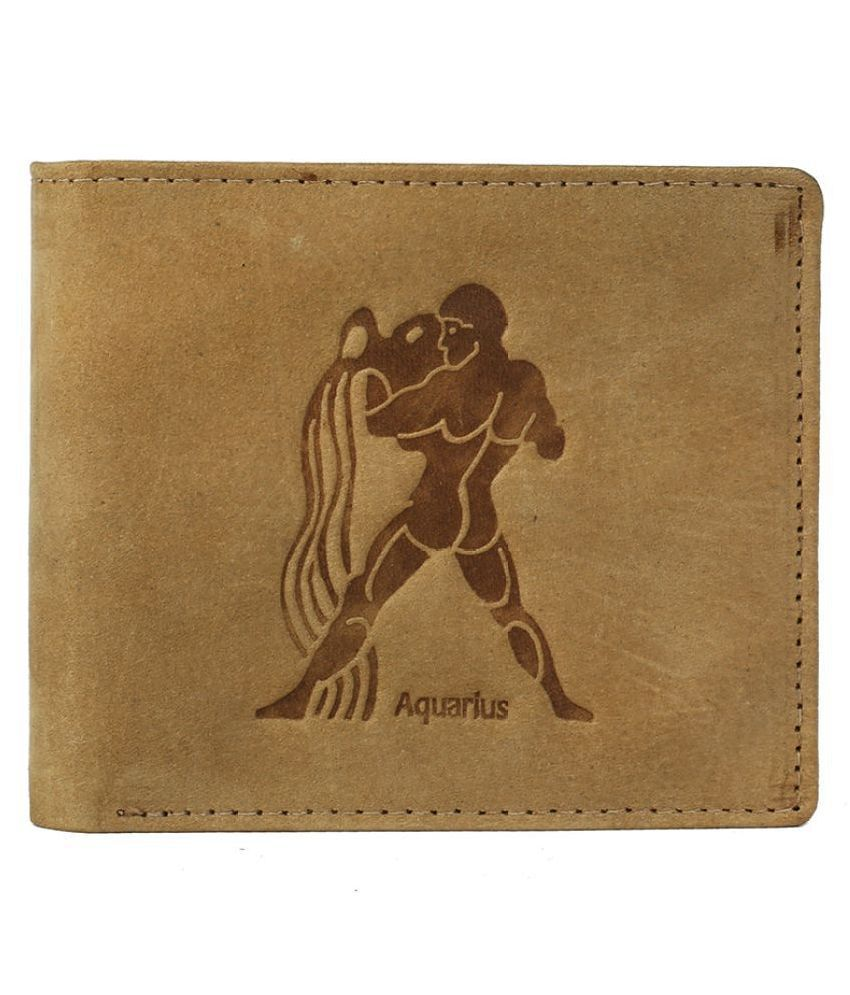 Hawai Leather Beige Casual Regular Wallet