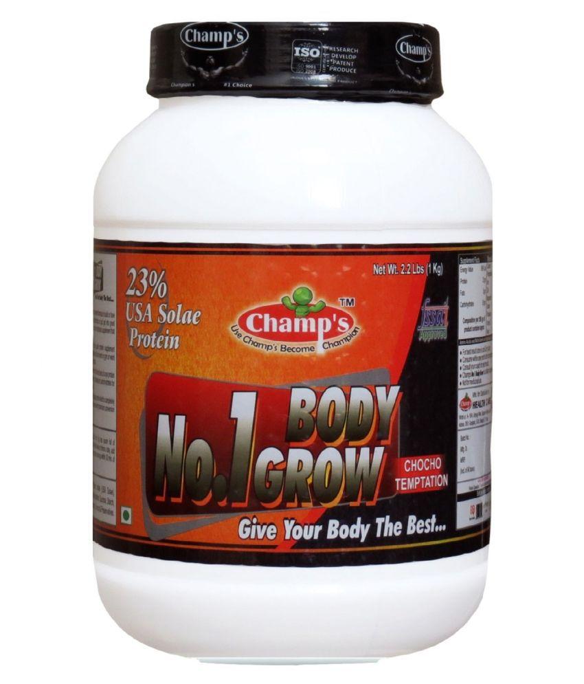 Champs No.1 Body Grow (Chocolate) 1 kg Mass Gainer Powder