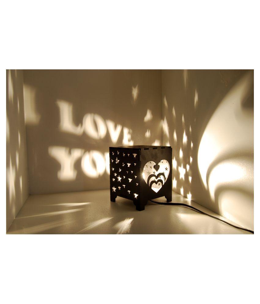 Generic Black Wood Table Lamp   Pack of 1