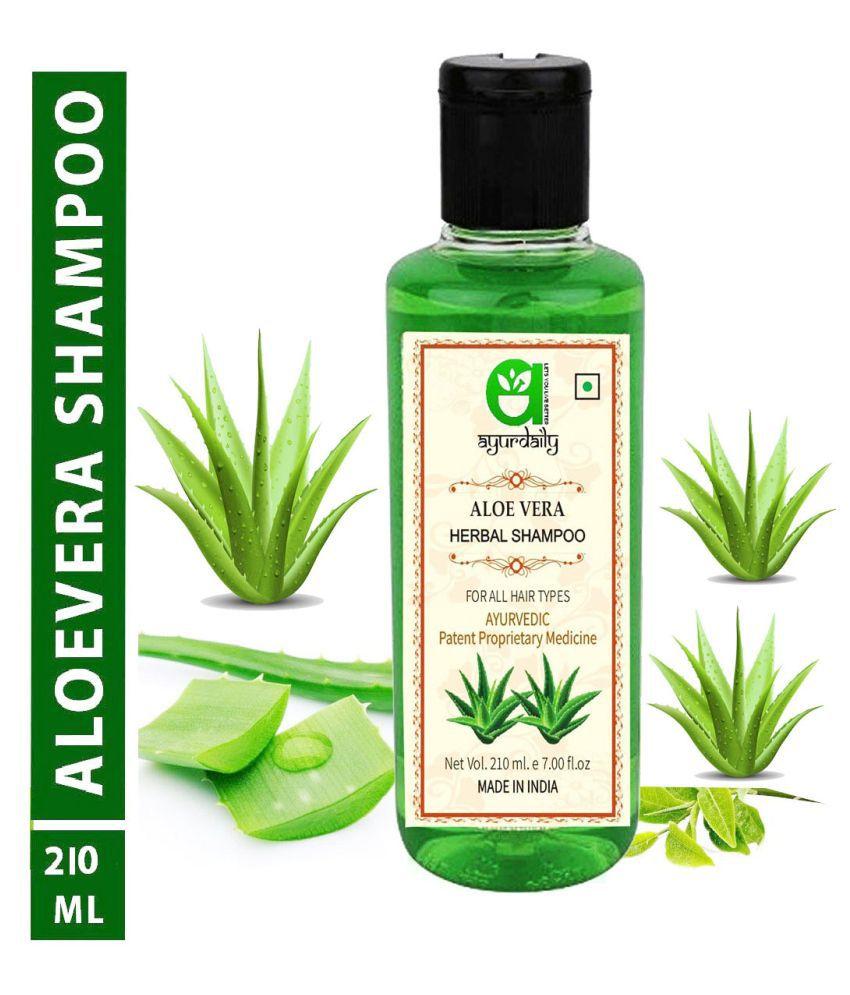 Khadi Herbal Ayurdaily Aloevera for Silky & Stronger Hair Shampoo 420 mL