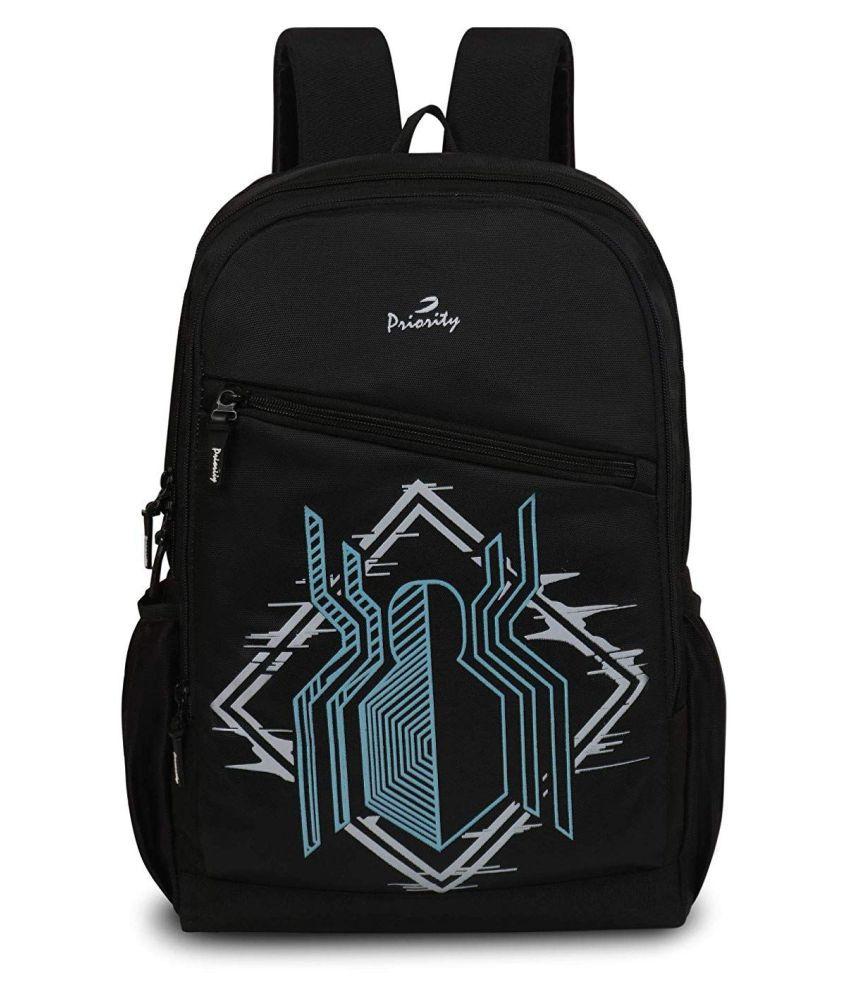 Priority Black School Bag for Boys & Girls