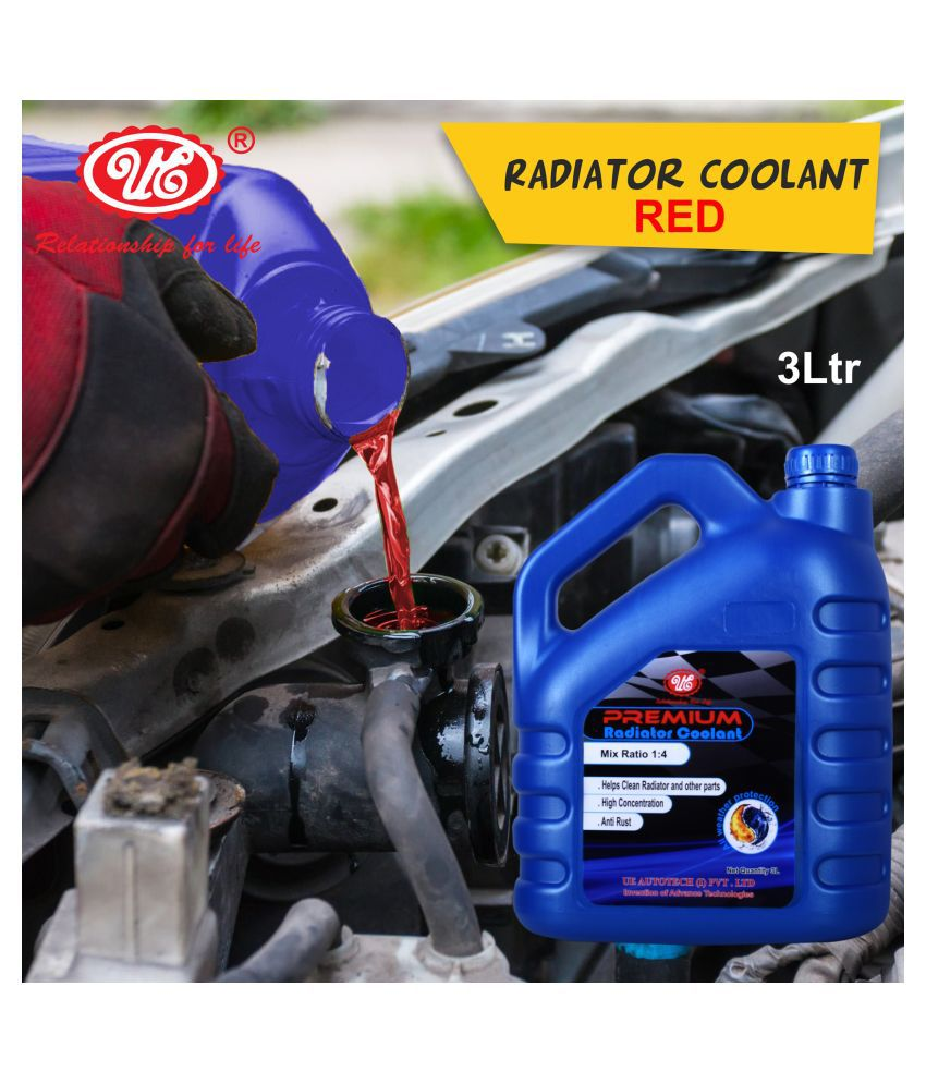UE Premium Car Care Radiator Coolant Concentrate -3 Liter (Red) Car Accessories/Automotive Products