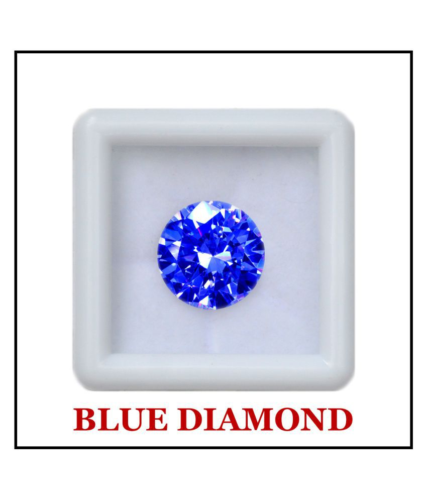 Maya Gems/Extra Fine Round Shape-Blue Diamond Gemstone