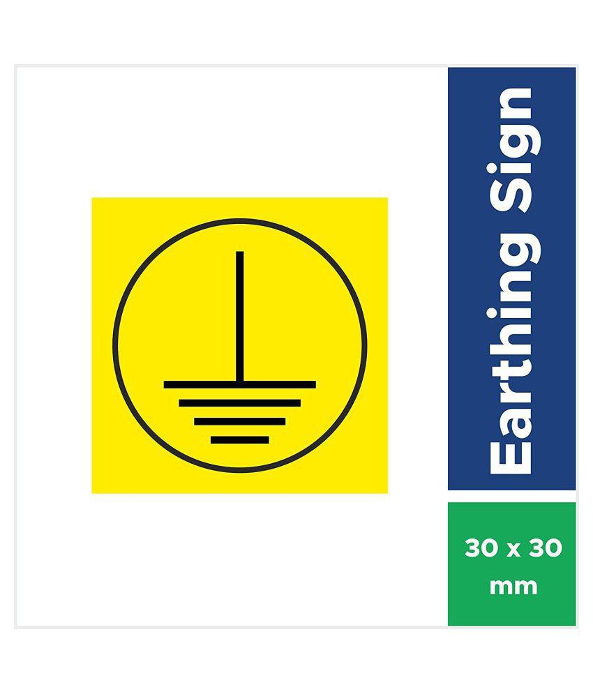 Rangvishwa  Enterprises Earthing Sticker - Self Adhesive Sticker Sticker ( 3 x 3 cms )