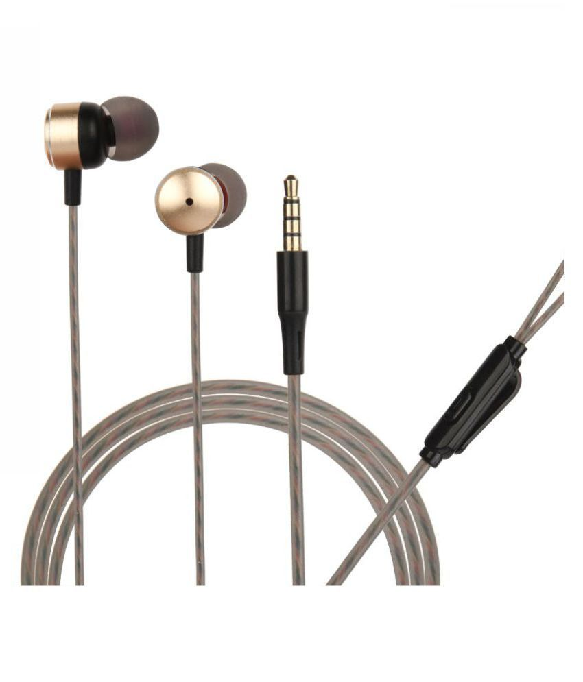 hitage Deep Bass Metal In Ear Wired With Mic Headphones/Earphones