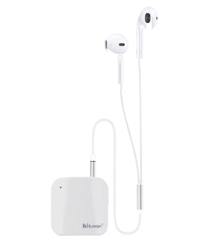 hitage Wireless Stereo Headset Bluetooth Headset   White