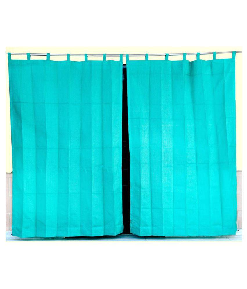 Duronet Set of 2 Door Loop Net Curtains Green
