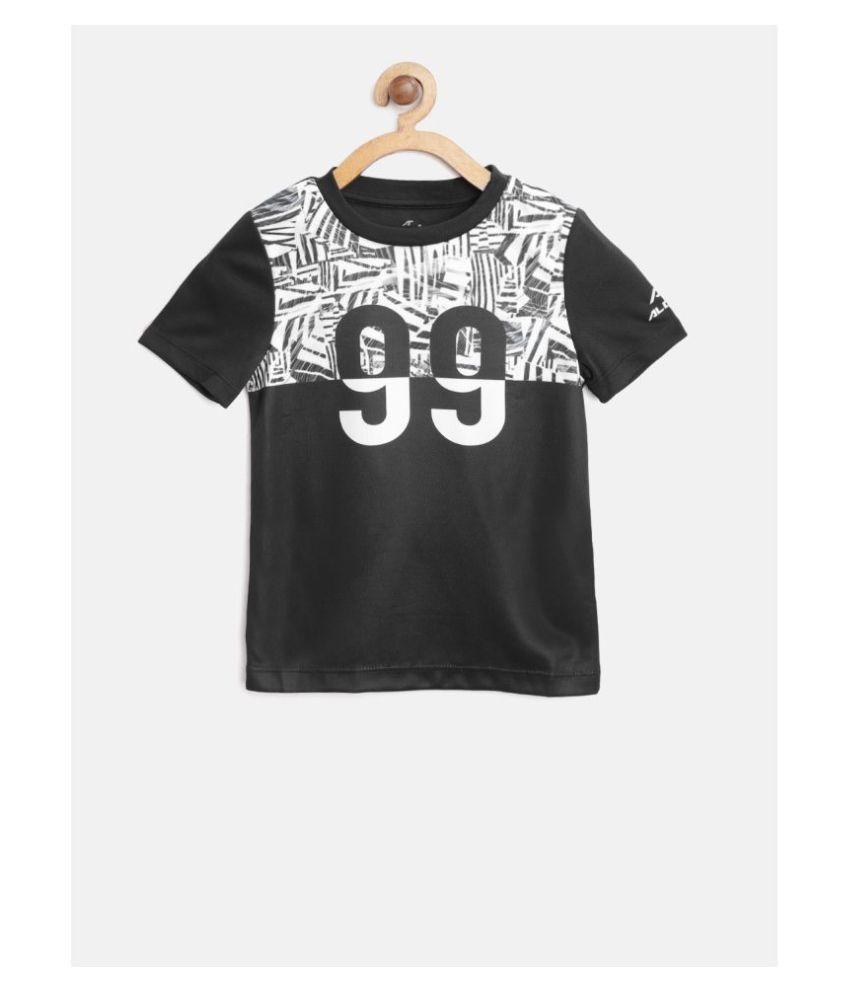 Alcis Boys Black 100% Polyester Tshirt