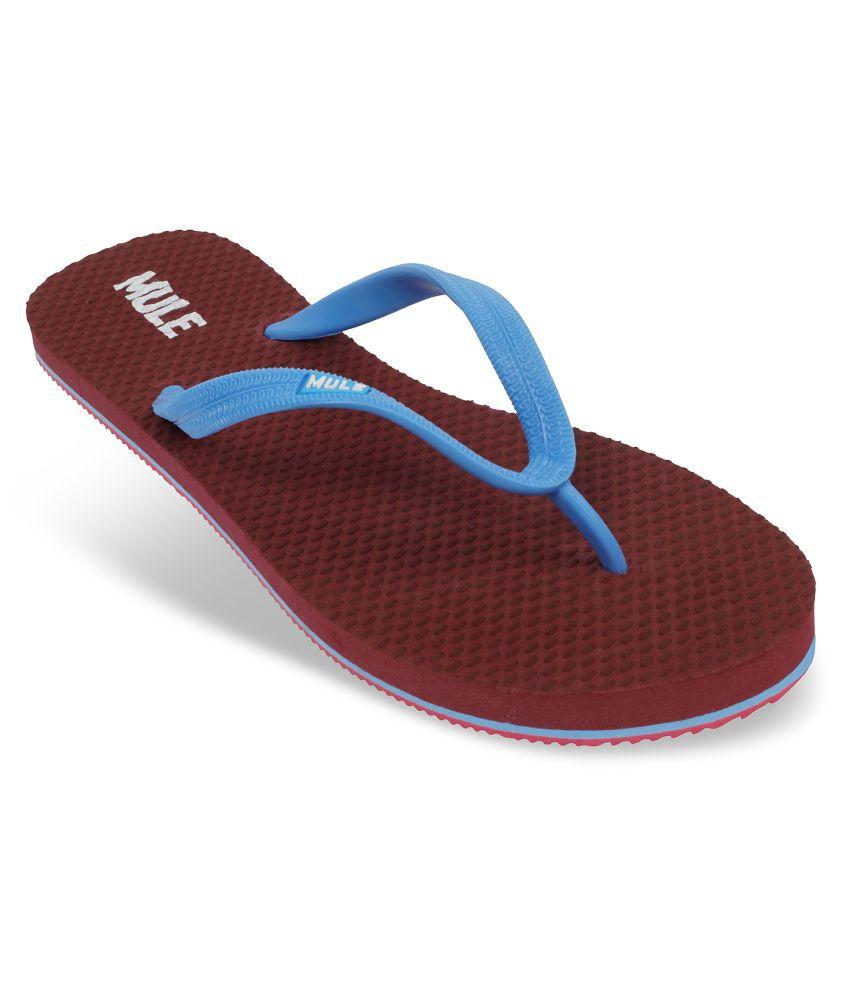 Mule Maroon Slippers