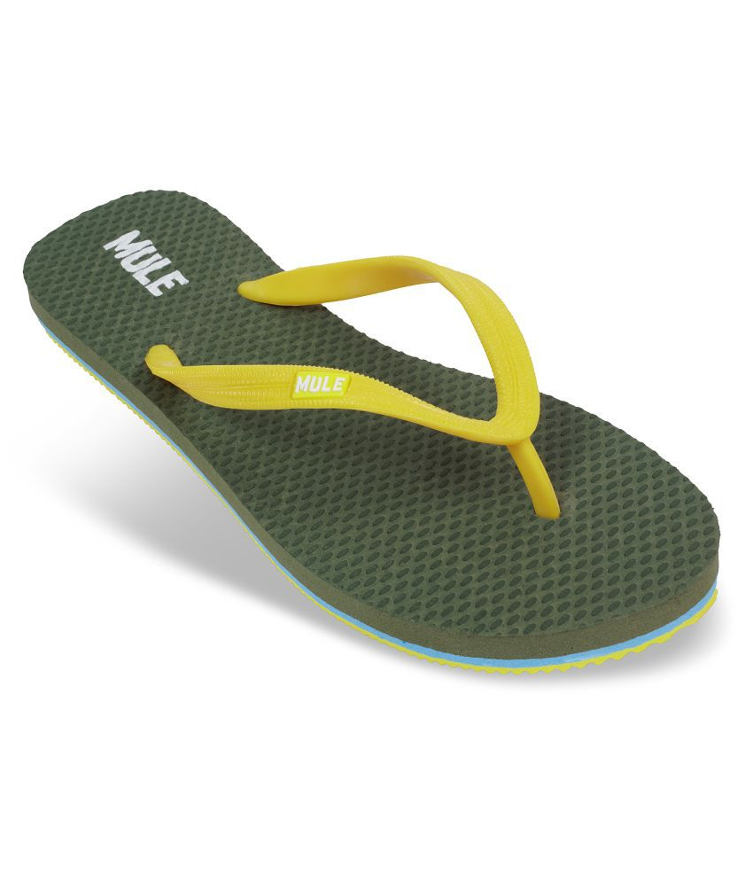 Mule Olive Slippers