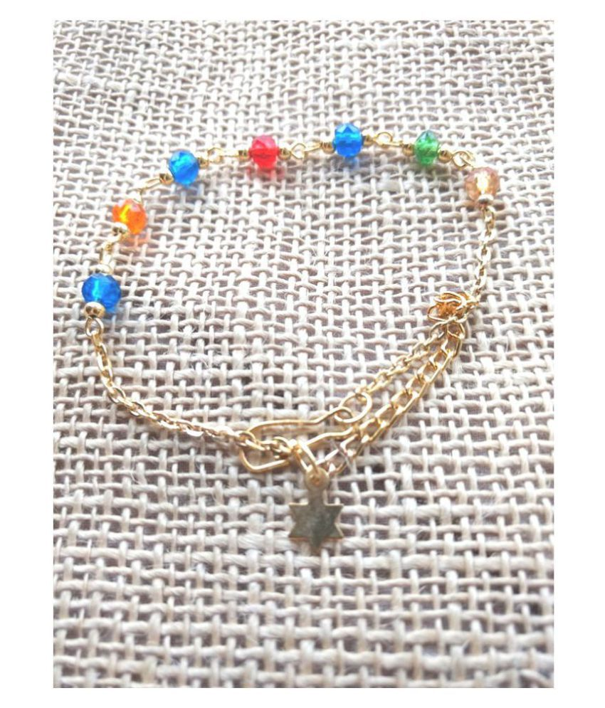 Multicolor Beads Anklets