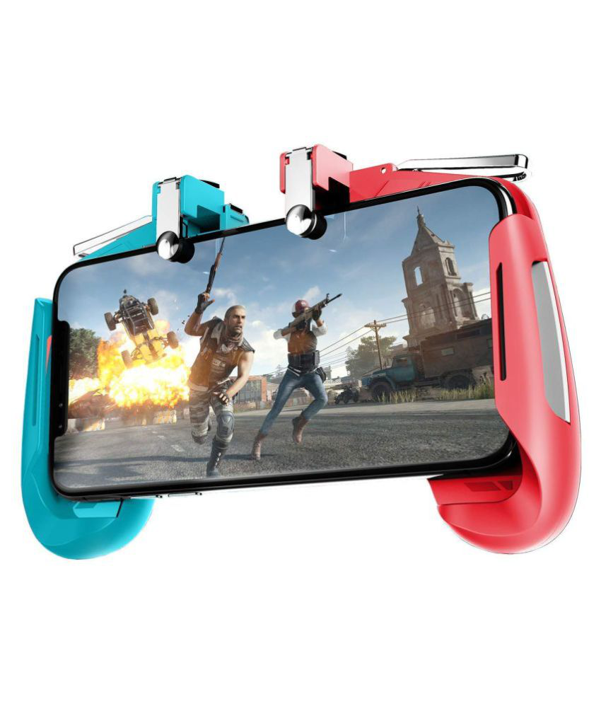 Suckey Mobile Gamepad AK-16 Controller For Pubg Remote Controller Gamepad ( Wireless ) Compatible with All Smartphones Upto 6.5