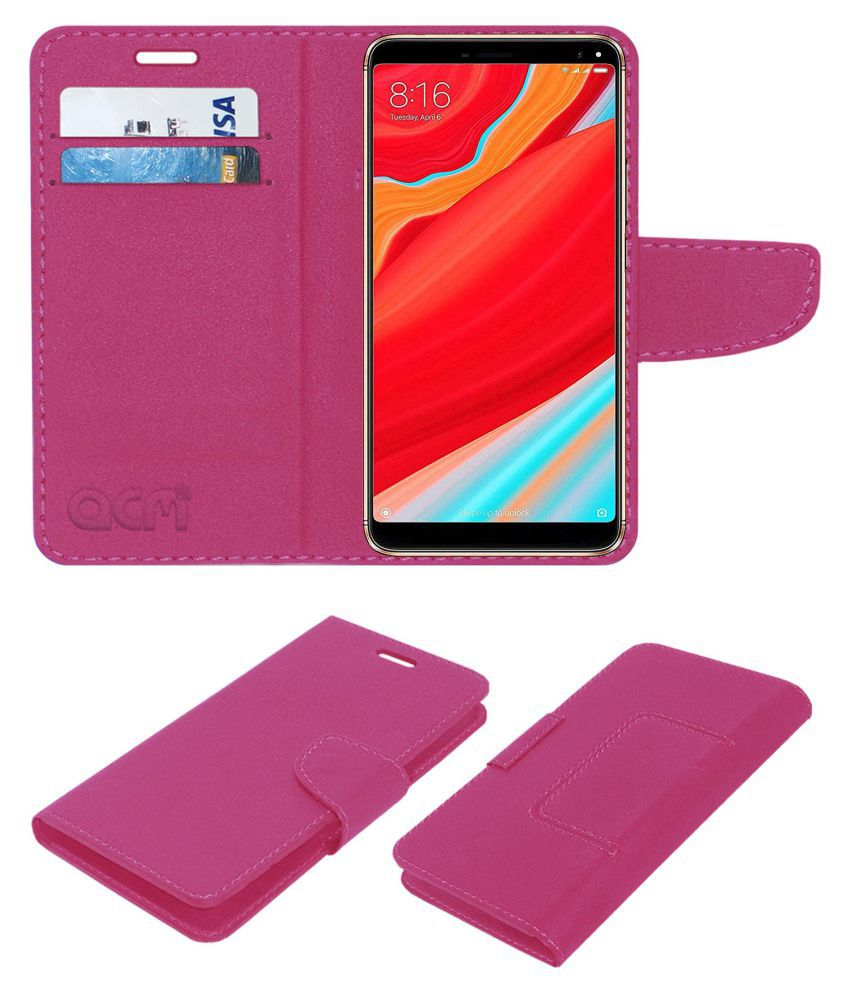 Ismart I1 Desire Flip Cover by ACM - Pink Wallet Case