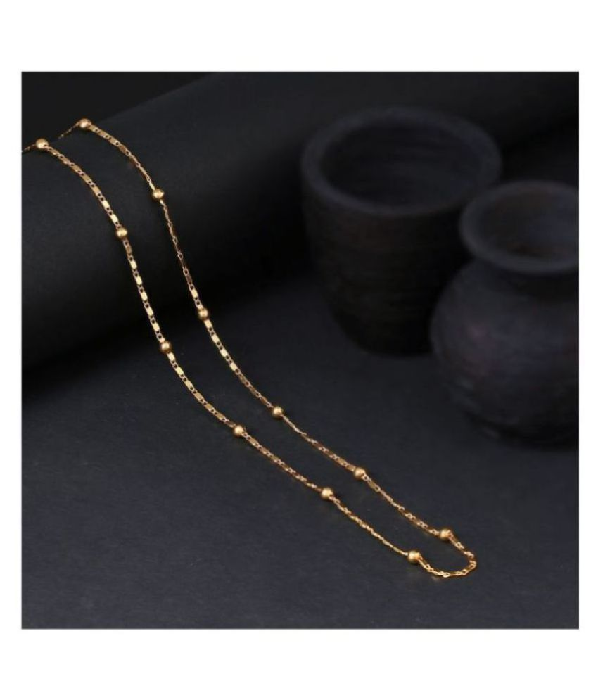 TRENDY GOLD-(WOMEN CHAIN) LONG LENGTH (SIZE)= 26 INCH, PLEASE CHECK THE SIZE CHART BEFORE PURCHASING. PERFECT FOR WOMEN