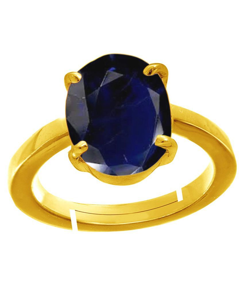 Todani Jems® 5.25 Ratti 4.62 Carat Natural Certified Blue Sapphire Neelam Ring for Men and Women