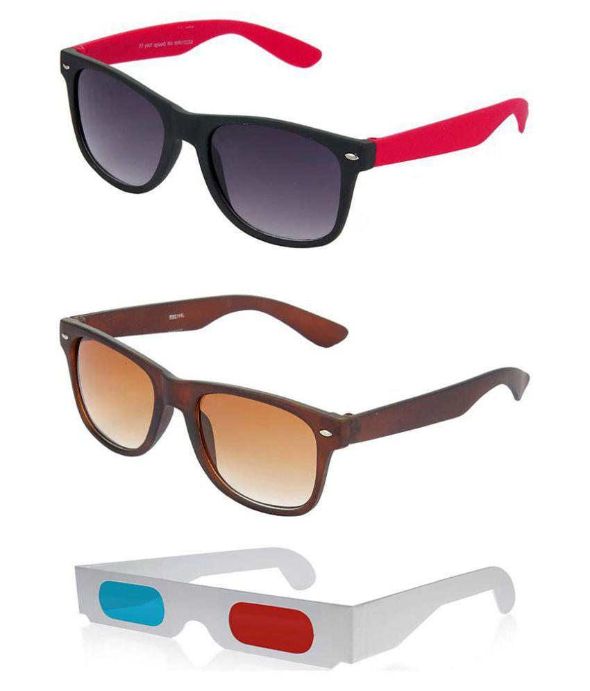 Hrinkar - Grey Square Sunglasses ( hcmb393 )
