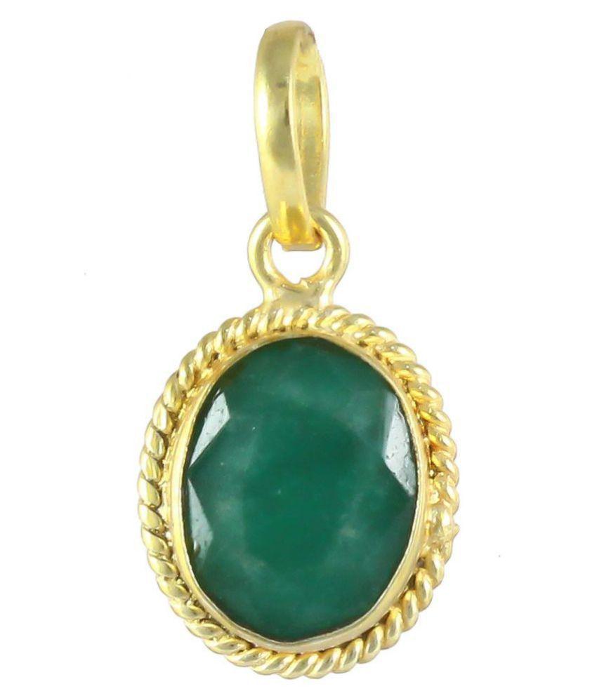 Swasti Retail 10.25 Ratti Natural Emerald/Panna Gemstone Pendant/Rashi ratna Gemstone Pendant for Men & Women Jewellery