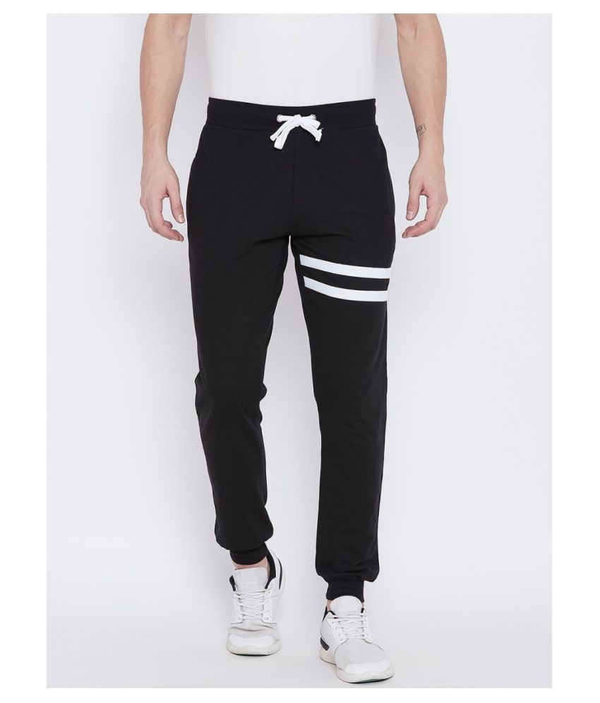 Bombay Clothing Company Black Cotton Blend Trackpants Pack of 2