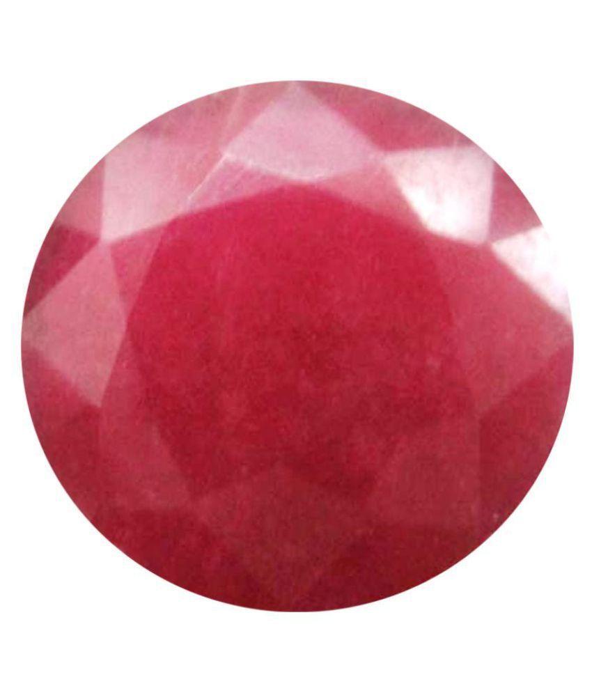 Tejvij And Sons 3.25 -Ratti Self certified Red Ruby Precious Gemstone