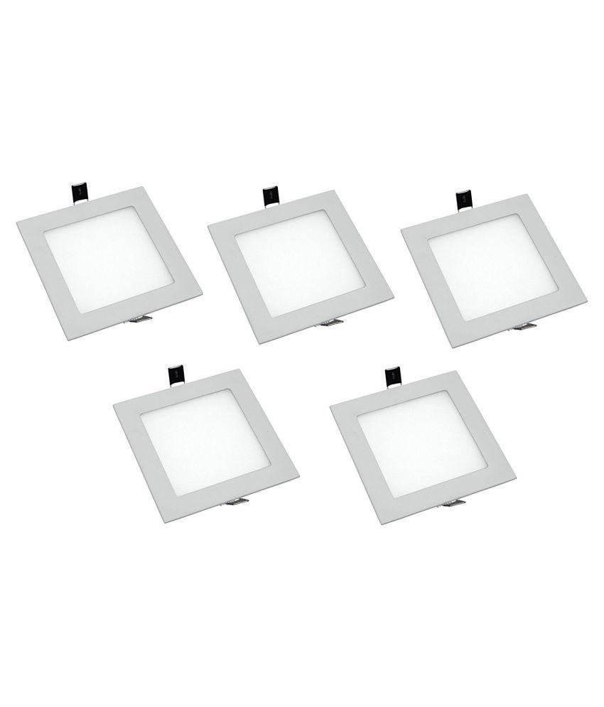 D'Mak 8W Square Ceiling Light 9.7 cms. - Pack of 5