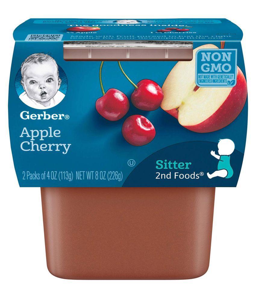 Gerber Apple Snack Foods for 6 Months + ( 226 gm ) Pack of 2