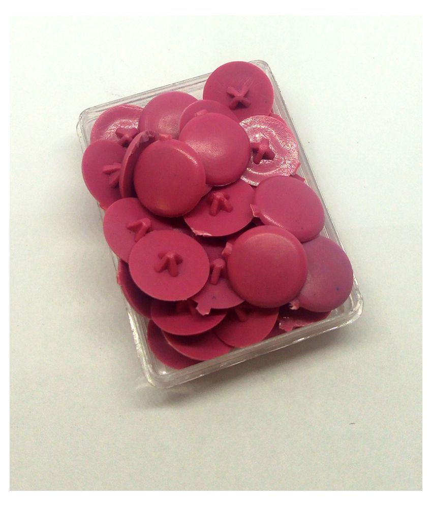 Screw Cap Cover Plastic (40 Pcs)  Light Pink