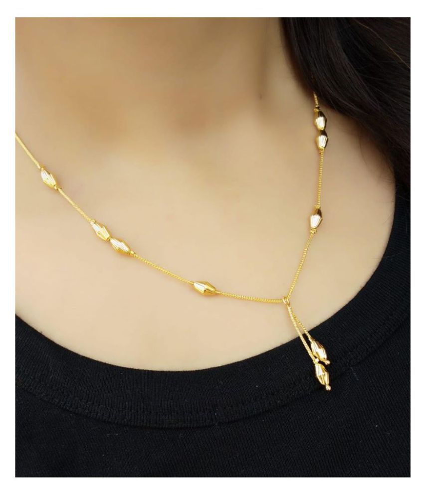 Darshini Designs Traditional Daily Wear Gold Look-like Chain for Women