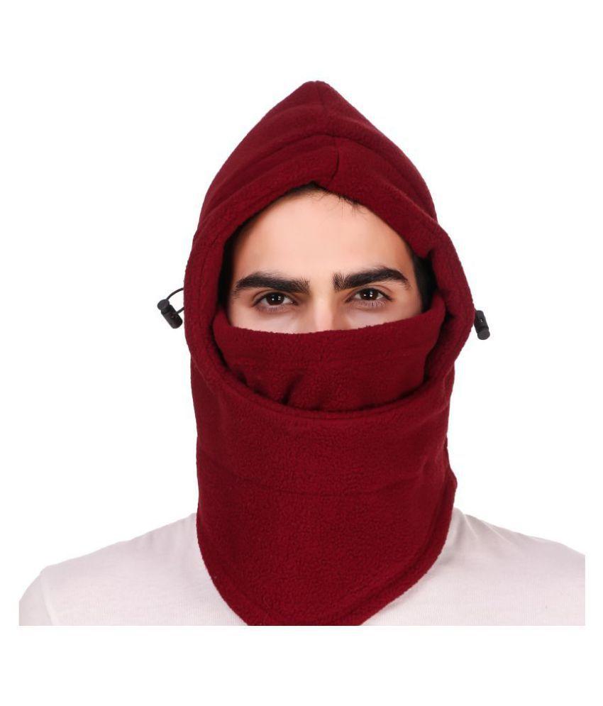 Snugg Fit 6 in 1 Thermal Polar Fleece Anti Pollution Face Mask Balaclava Snow Bike Outdoor Hiking Cap