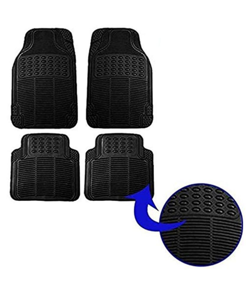Ek Retail Shop Car Floor Mats (Black) Set of 4 for MahindraTUV300T4Plus